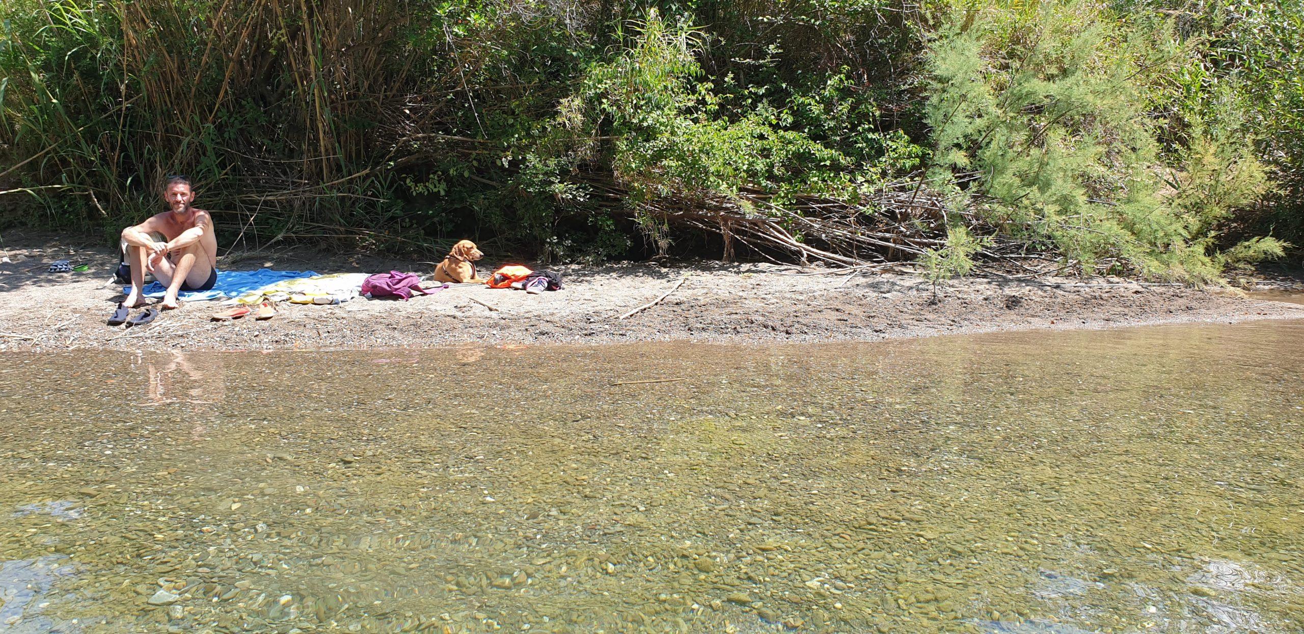 relax nella spiaggetta del Pozzo di serraiola