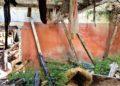 Resti delle camere alle terme abbandonate di San Michele alle Formiche